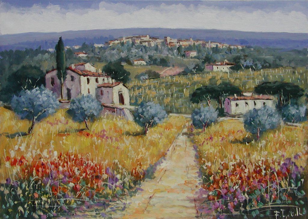 Paintings of the Tuscan countryside